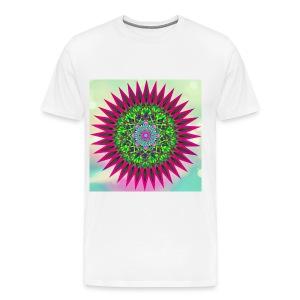 Mandala Flower - Premium T-skjorte for menn