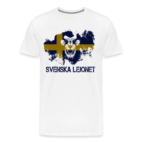 Svenska Lejonet Official Chest Logo - Premium-T-shirt herr