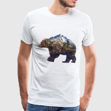 Bear - Miesten premium t-paita