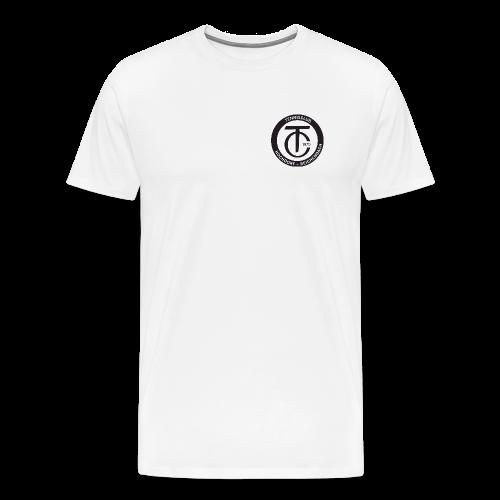 TCHR Logo Schwarz-Weiß - Männer Premium T-Shirt