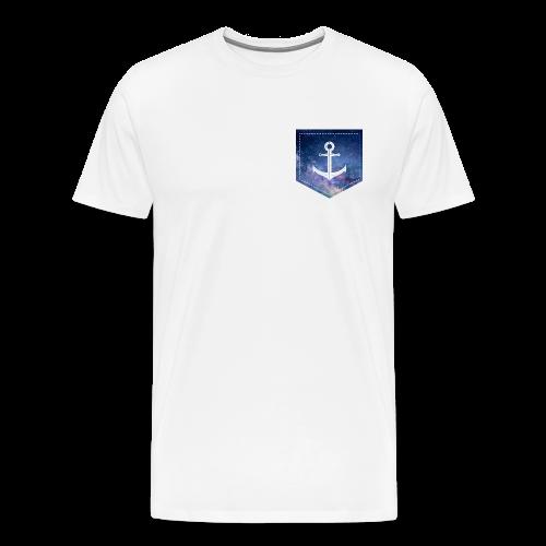 Brusttasche Galaxie Anker - Männer Premium T-Shirt