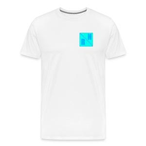 Random Network White T-Shirt (Design 2) - Mannen Premium T-shirt