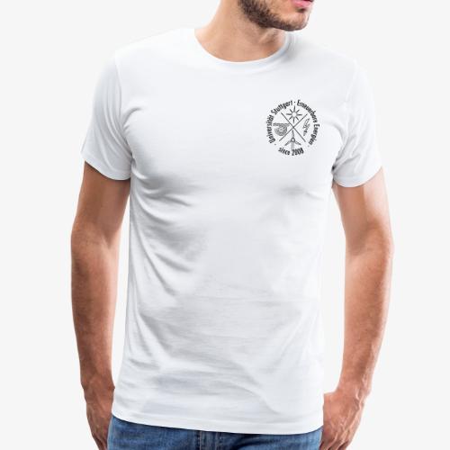Chest Logo schwarz - Männer Premium T-Shirt