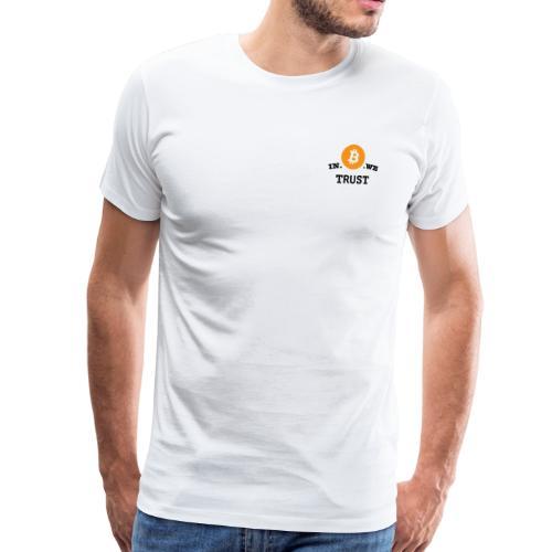 in b we trust cirkel - Mannen Premium T-shirt