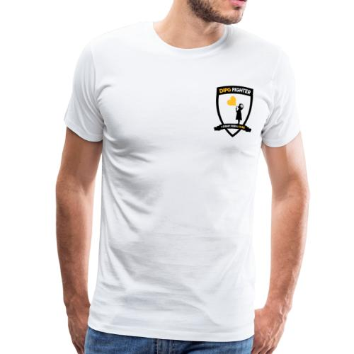 DIPG FIGHTER – Wappen (schwarz) - Männer Premium T-Shirt