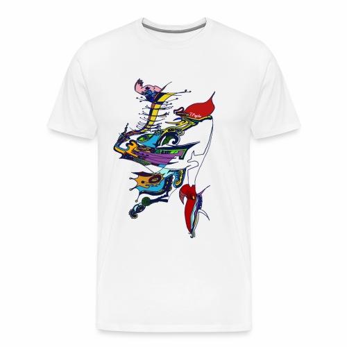 livrea3 COLORATA senza sfondo - Maglietta Premium da uomo