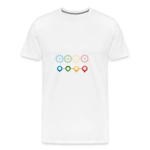 Make things happen - Bundes Artwork mit Zahnräder - Männer Premium T-Shirt