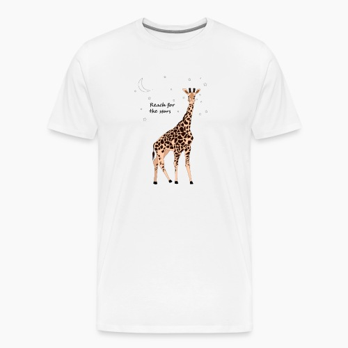 Giraffe - Reach for the stars - Men's Premium T-Shirt
