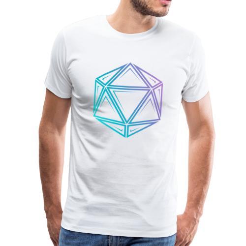 Tribal d20 fade - donjons et dragons dnd - T-shirt Premium Homme