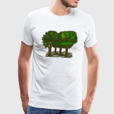 árboles forestales - Camiseta premium hombre