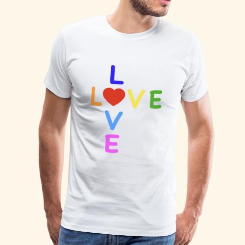 LOVE Cross rainbow heart 001 - Männer Premium T-Shirt