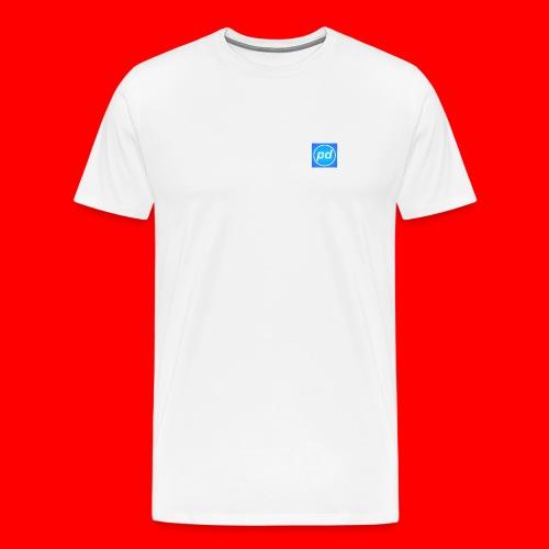 pd Blue V2 - Herre premium T-shirt