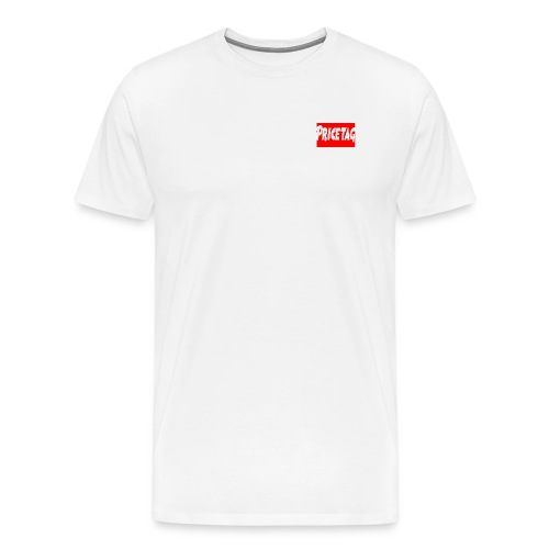 Red And White pricetag - Men's Premium T-Shirt