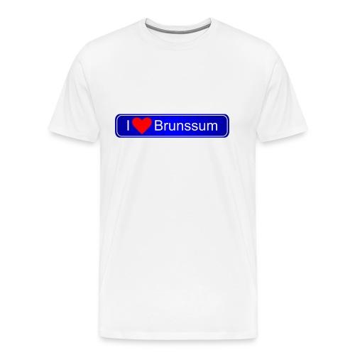 Brunssum plaatsnaambord - Mannen Premium T-shirt