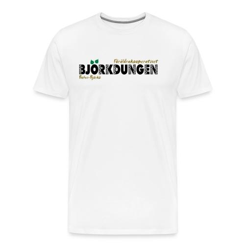 Björkdungen Logo 3-color - Premium-T-shirt herr