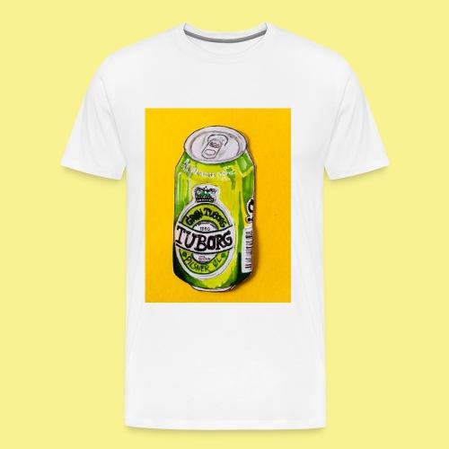 Gul Øller's - Herre premium T-shirt