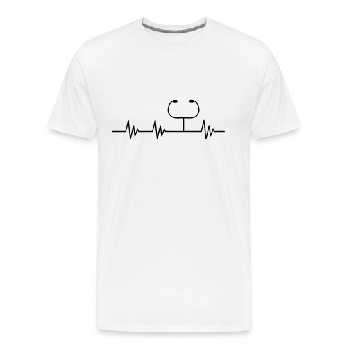 Puls Herzschlag Arzt - Männer Premium T-Shirt