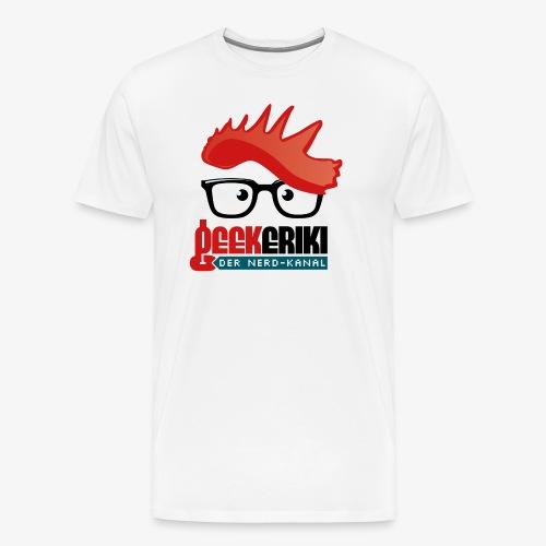 Geekeriki Logo (heller Hintergrund) - Männer Premium T-Shirt