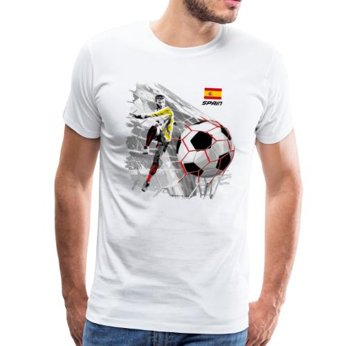 GP22F-02 SPAIN FOOTBALL PRODUCTS - Espanya fútbol - Miesten premium t-paita