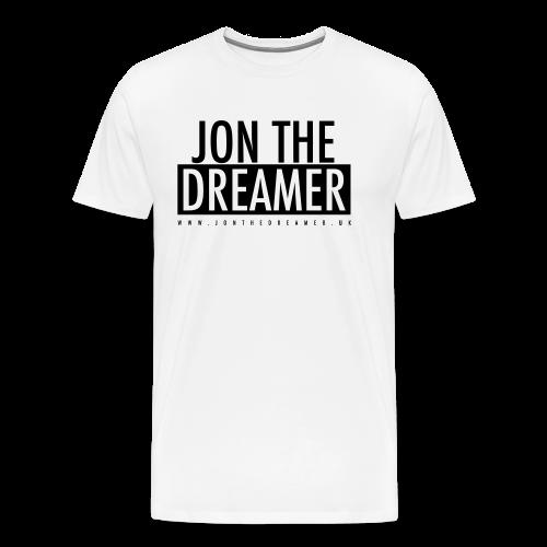 JON THE DREAMER LOGO - WHITE - Men's Premium T-Shirt