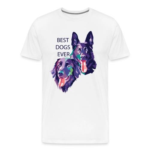 Schäferhund und Hovawart for ever - Männer Premium T-Shirt