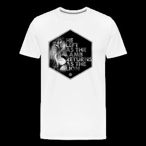 Lion Coming Soon by JT4Christ - Men's Premium T-Shirt