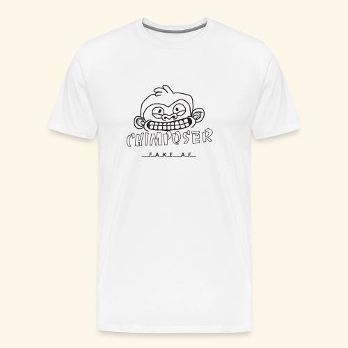 chimposer og fake af design - Mannen Premium T-shirt