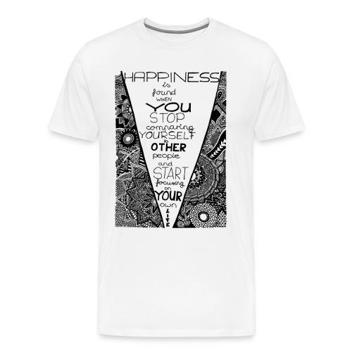 Doodle Art Happiness - Männer Premium T-Shirt