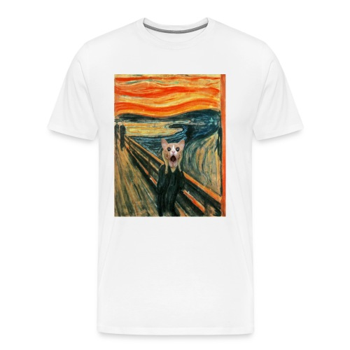 cat scream - T-shirt Premium Homme