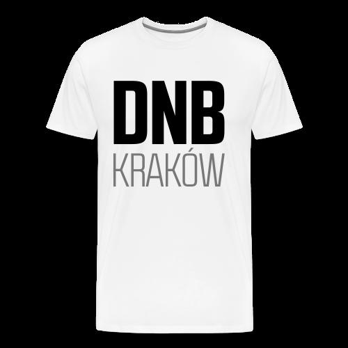 DNB KRAKÓW SQ WHITE - Koszulka męska Premium