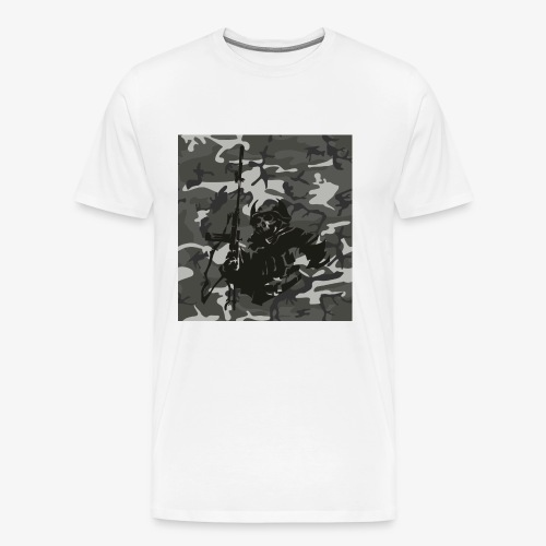 camuflaje con soldado - Camiseta premium hombre
