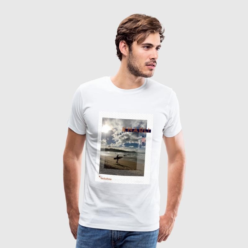 FISTRAL BEACH, NEWQUAY - Men's Premium T-Shirt