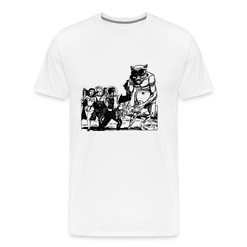 Altes Retrozukunft Alien Monster Design - Männer Premium T-Shirt