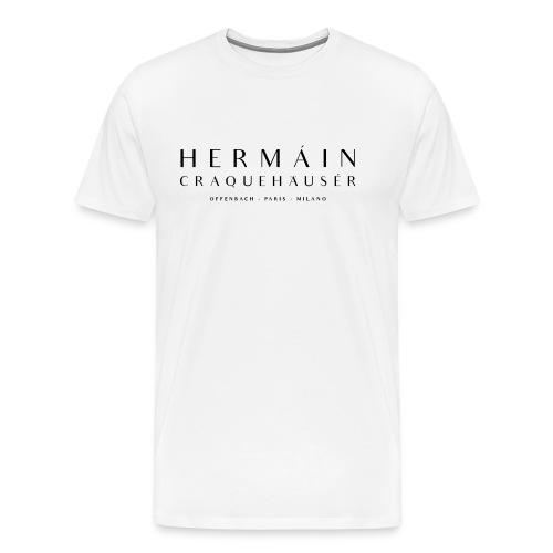 Carbón-Blaque auf Mántarochen-Bianco - Männer Premium T-Shirt
