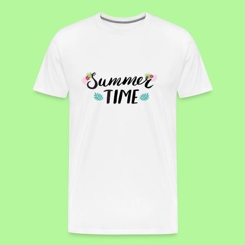 Summer Time Black & White - Men's Premium T-Shirt