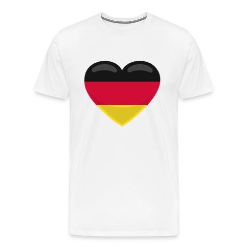 germany heart - Männer Premium T-Shirt