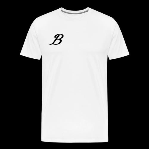 B - Herre premium T-shirt