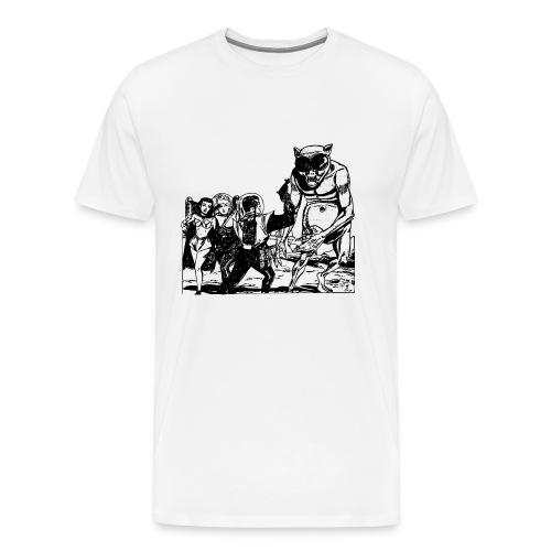 Altes Retrozukunft Alien Monster Design - Männer Premium T-Shirt