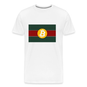 Bitcoin Logo Greed Red Flag - Männer Premium T-Shirt