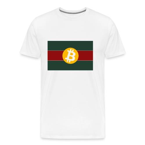 Bitcoin Logo Greed Red Flag - Männer Premium T-Shirt