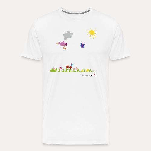 Blumenwiese von Marie - Männer Premium T-Shirt