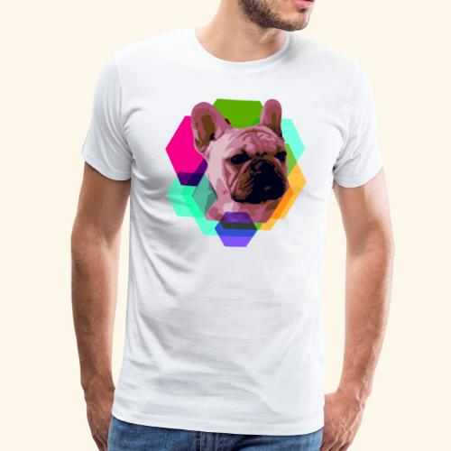 French Bulldog head - T-shirt Premium Homme