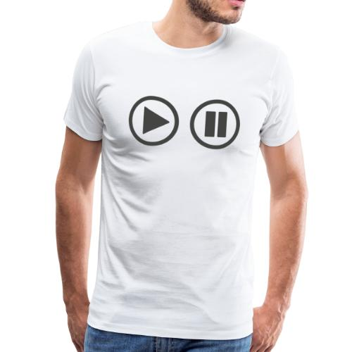 Play the button - Männer Premium T-Shirt