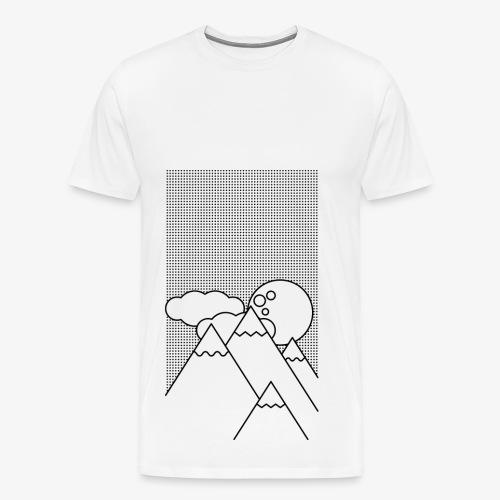 Bergen in de Nacht - Mannen Premium T-shirt