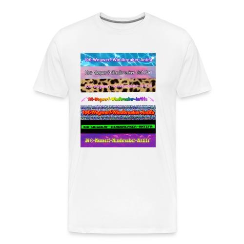 10€-Wegwerf-Windbreaker-Antifa - Männer Premium T-Shirt
