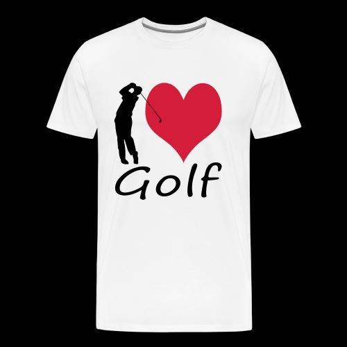 I love Golf - Männer Premium T-Shirt