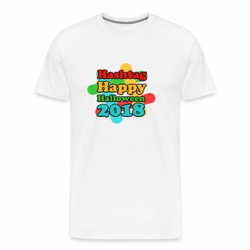 hashtag happy halloween 2018 - T-shirt Premium Homme