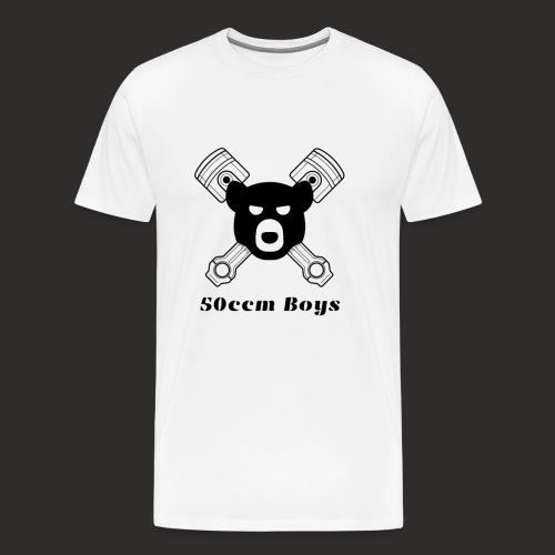 Grosses Logo mit Schrift - Männer Premium T-Shirt