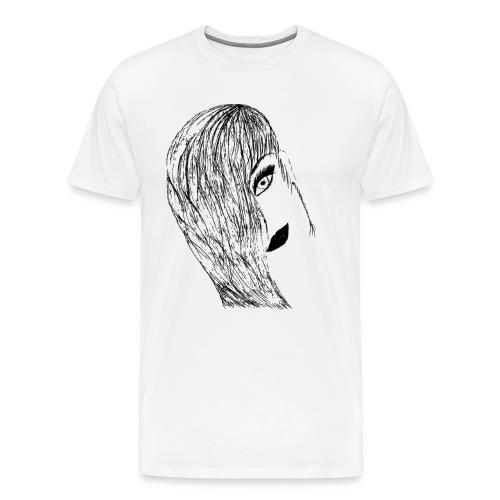 Frau Gesicht - Männer Premium T-Shirt