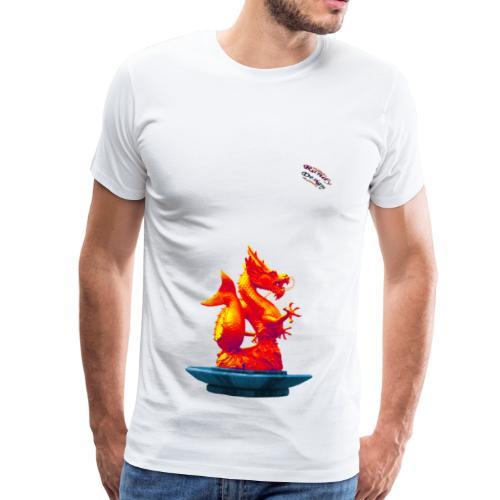 Drachen Statue Shirt Randy Design - Männer Premium T-Shirt